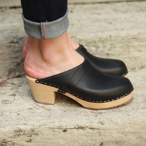 High Heel Classic Clog Black