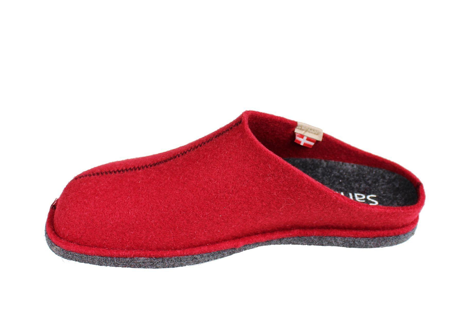 Sanita Hogga Eco- friendly Slip- on Indoor Shoe In Red