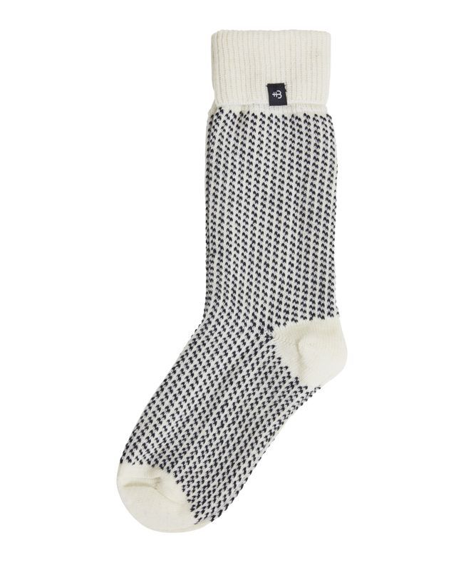 Holebrook Malo Raggsocka in Off White and Navy