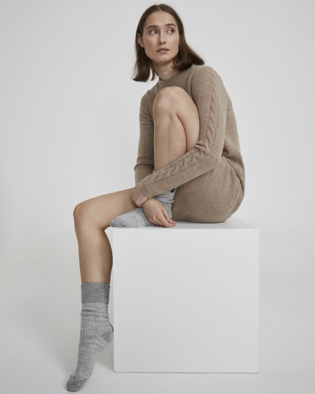 Holebrook Malo Raggsocka in Grey and Off White