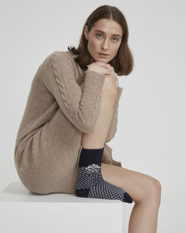 Holebrook Vallero Raggsocka in Navy and Off White