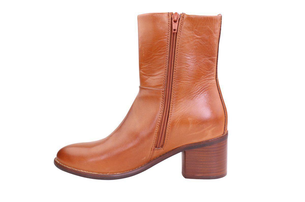 Ten Points Josette Ankle Heel Boot in Cognac