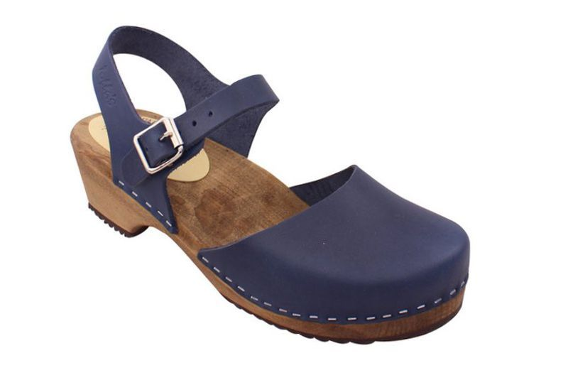 Low Wood in Navy on Brown Base Seconds