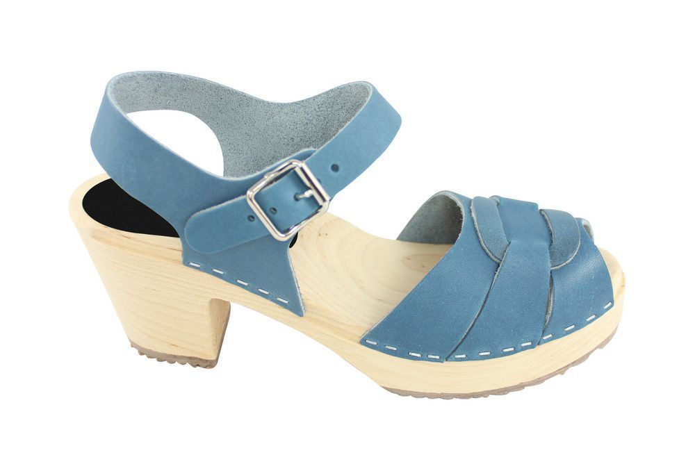 Lotta From Stockholm Peep Toe Steel Blue Side 2