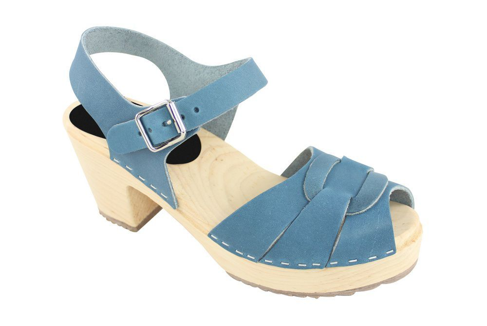 Lotta From Stockholm Peep Toe Steel Blue