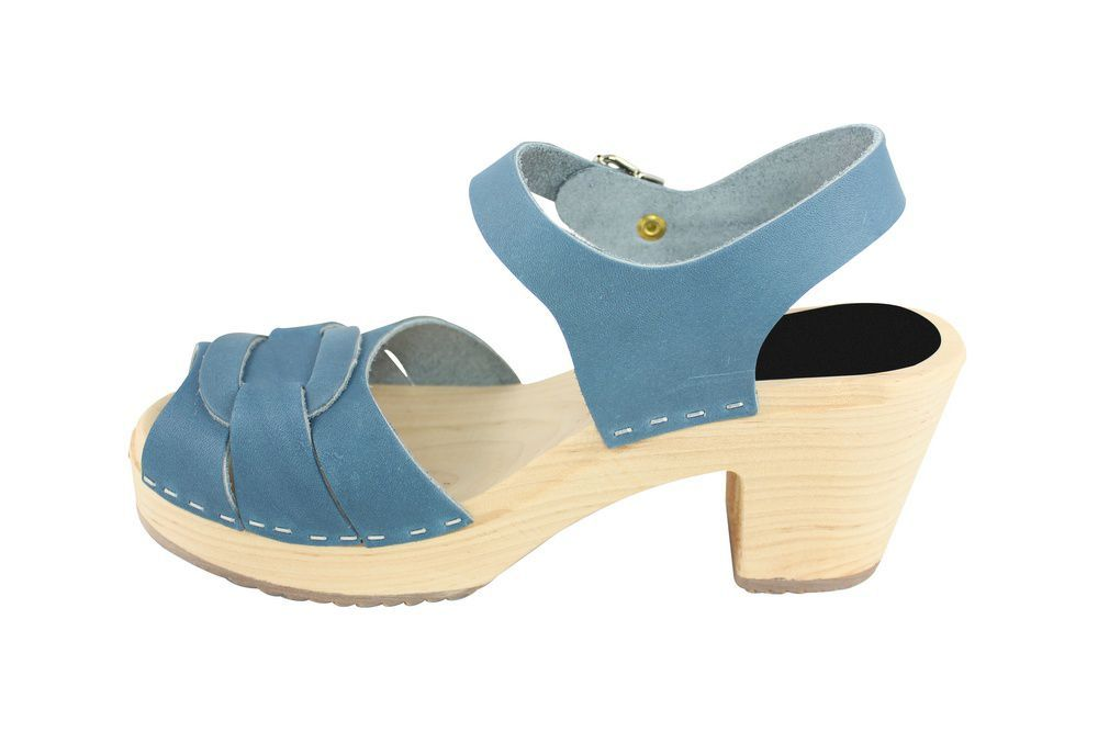 Lotta From Stockholm Peep Toe Steel Blue Rev Side 2