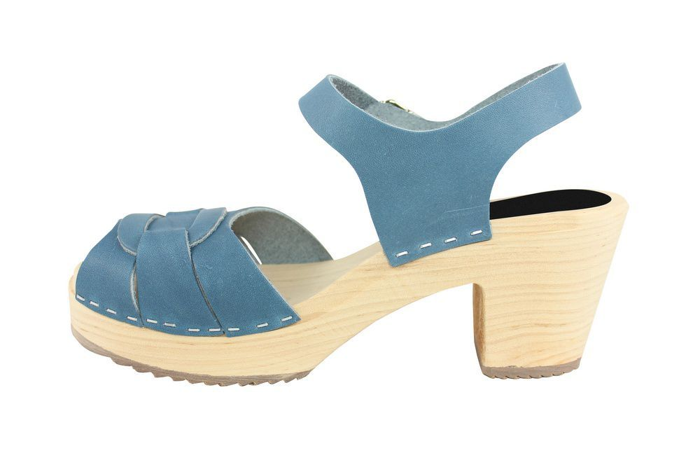 Lotta From Stockholm Peep Toe Steel Blue Rev Side