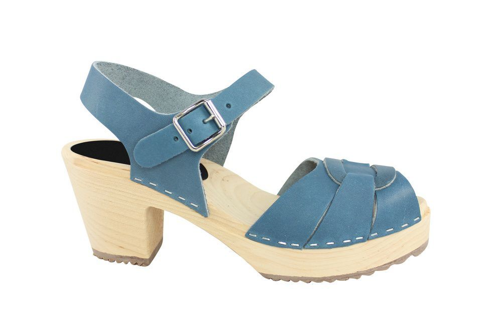 Lotta From Stockholm Peep Toe Steel Blue Side