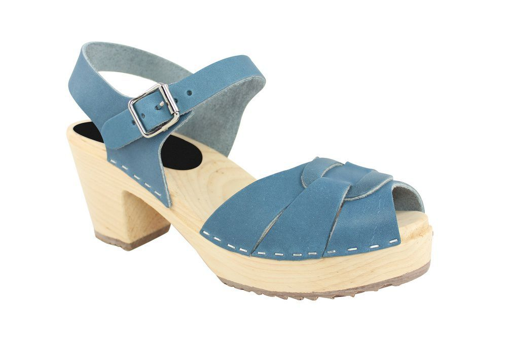Lotta From Stockholm Peep Toe Steel Blue Main