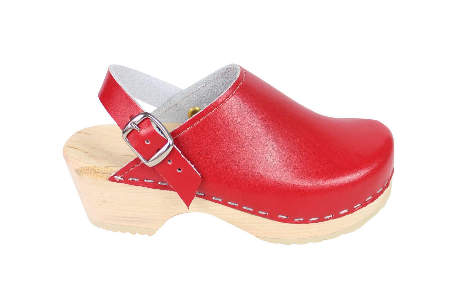 Little Lotta's Kids Classic Clogs in Red Side Strap