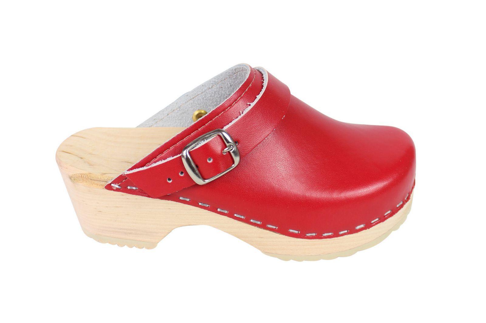Little Lotta's Kids Classic Clogs in Red Side 2