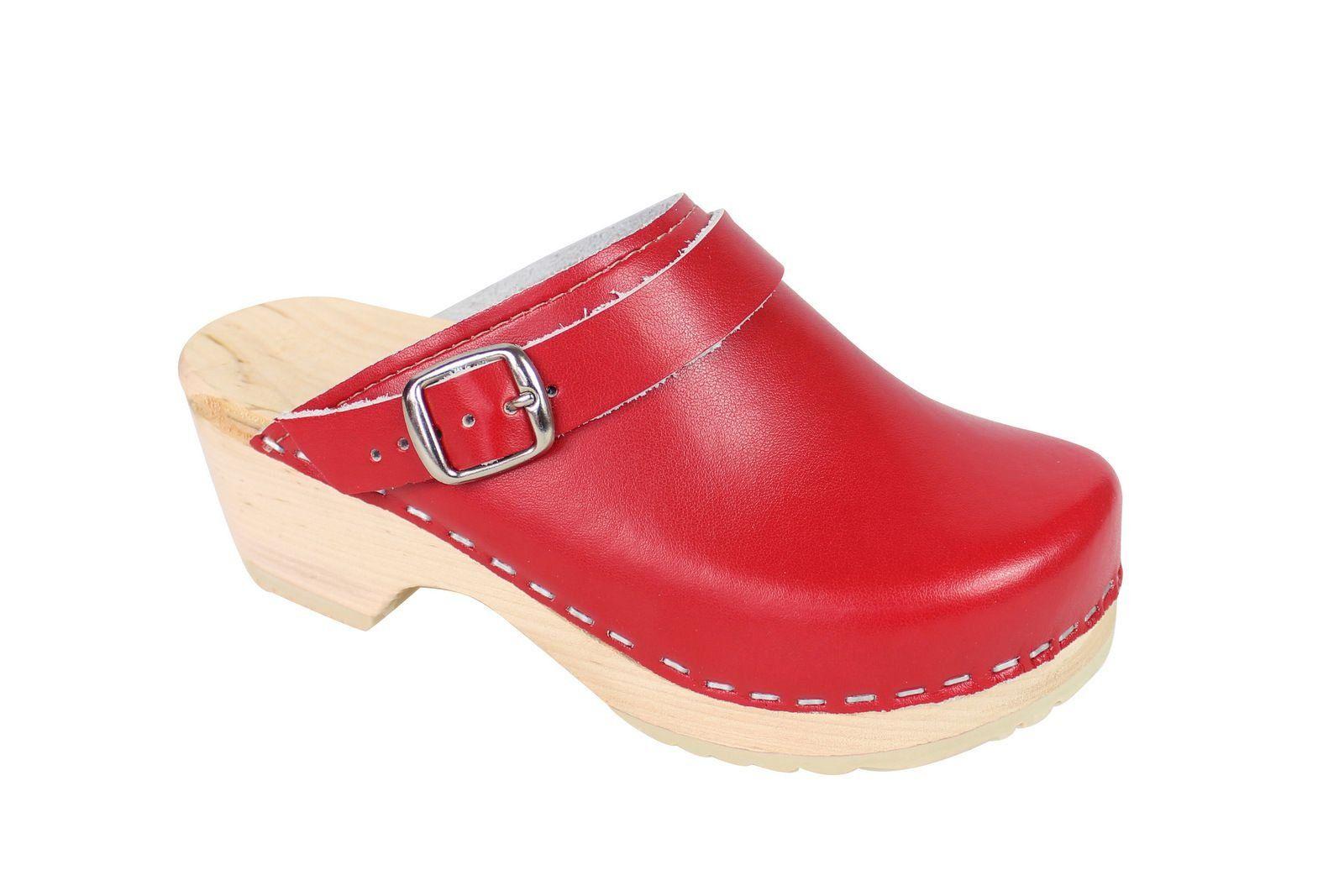 Little Lotta's Kids Classic Clogs in Red