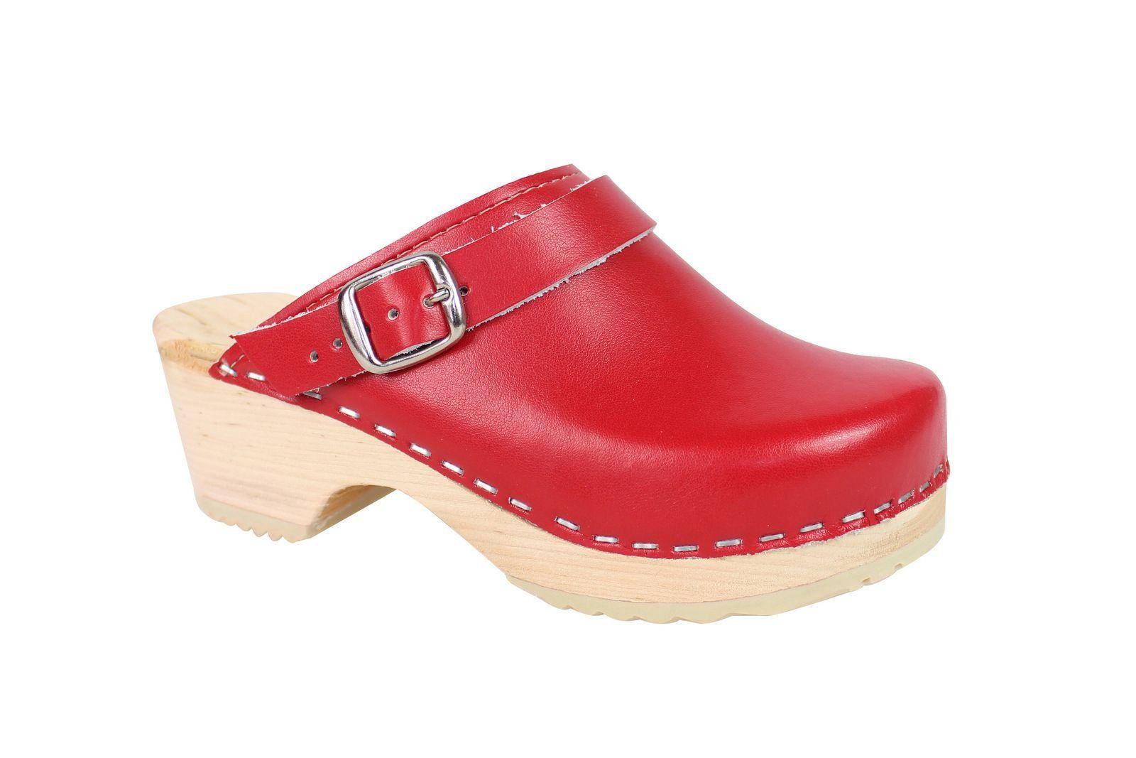 Little Lotta's Kids Classic Clogs in Red Main