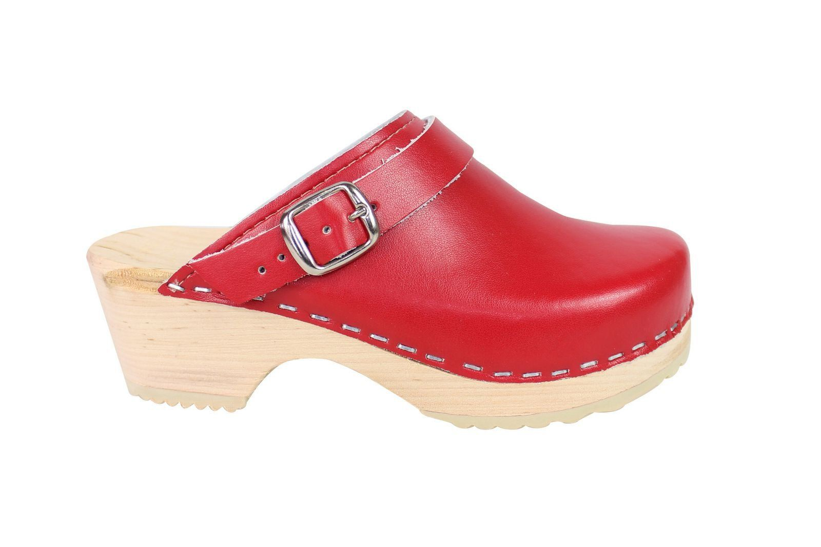 Little Lotta's Kids Classic Clogs in Red Side