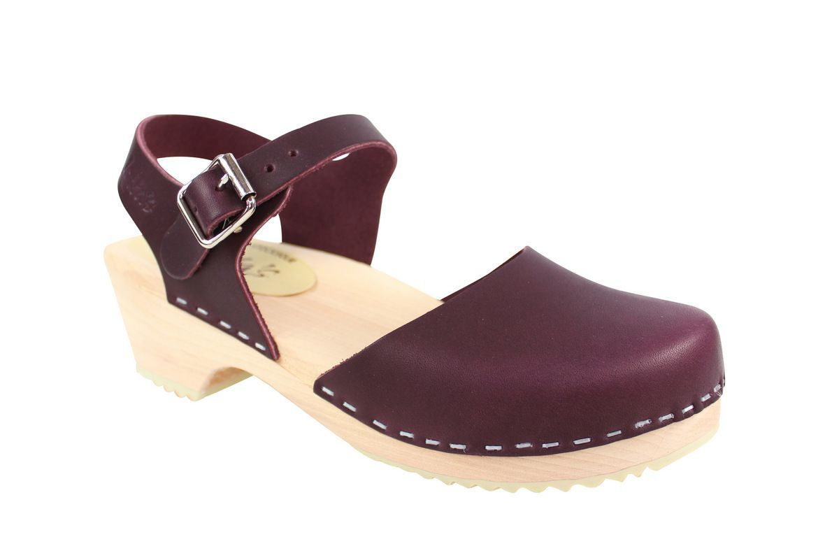 Lotta's Low Wood Closed Toe Aubergine Main