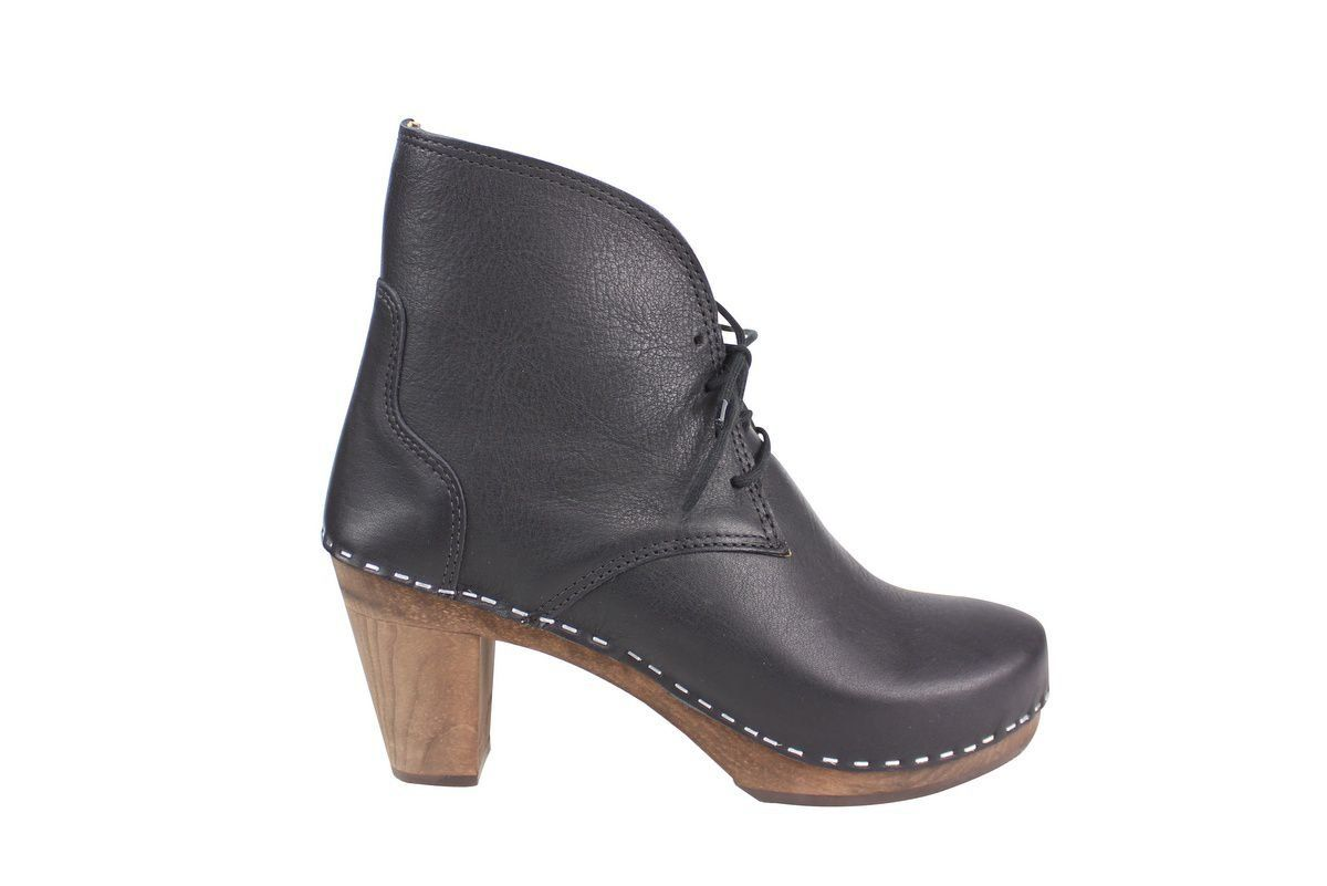 Maguba Casablanca High Heel Clog Boot Black Side