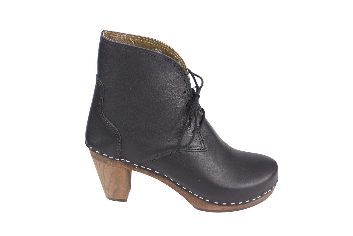 Maguba Casablanca High Heel Clog Boot Black Side 2