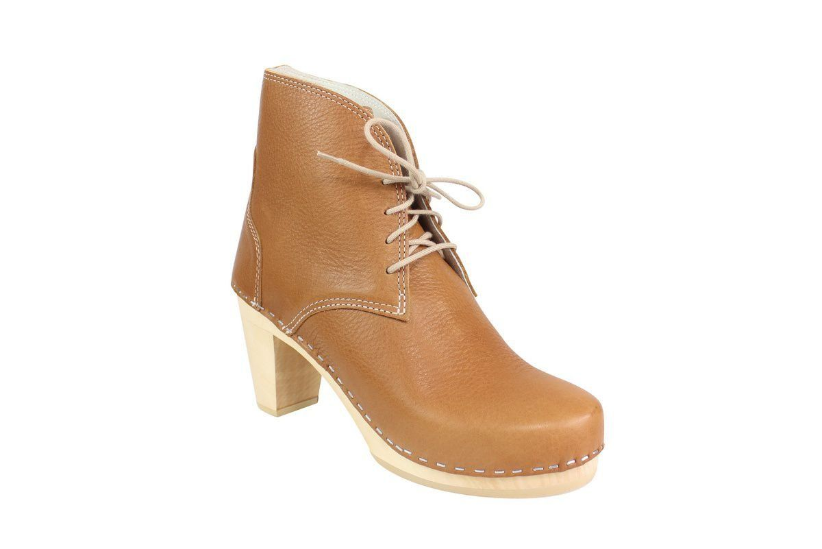 Maguba Casablanca High Heel Clog Boot Tan Main