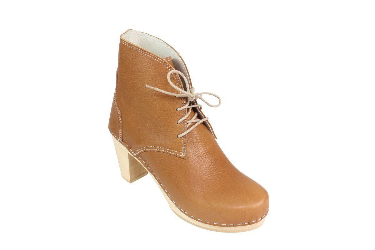 Maguba Casablanca High Heel Clog Boot Tan