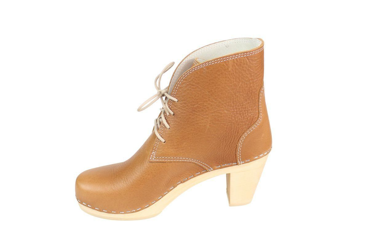 Maguba Casablanca High Heel Clog Boot Tan Rev Side 2