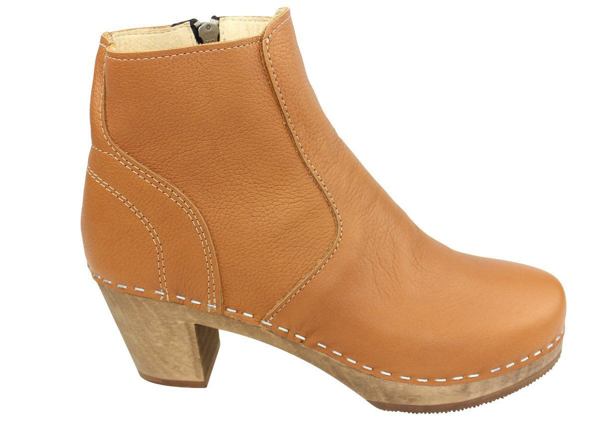 Maguba Auckland Tan Clog Ankle Boots