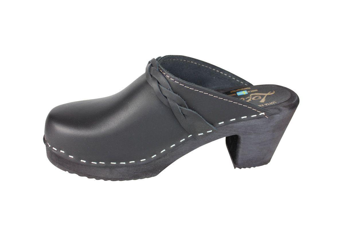 high heel clogs black with black base rev side 2