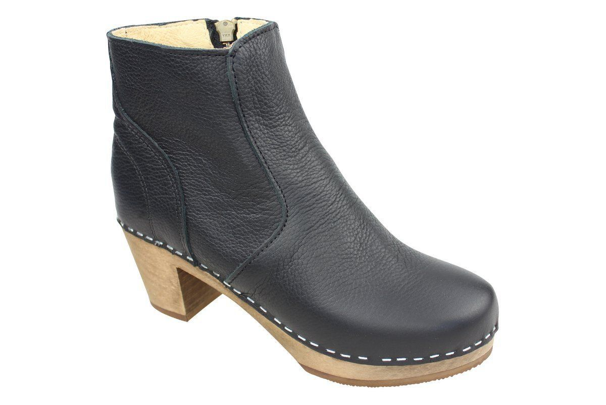 Maguba Auckland Black Clog Ankle Boots Main Image