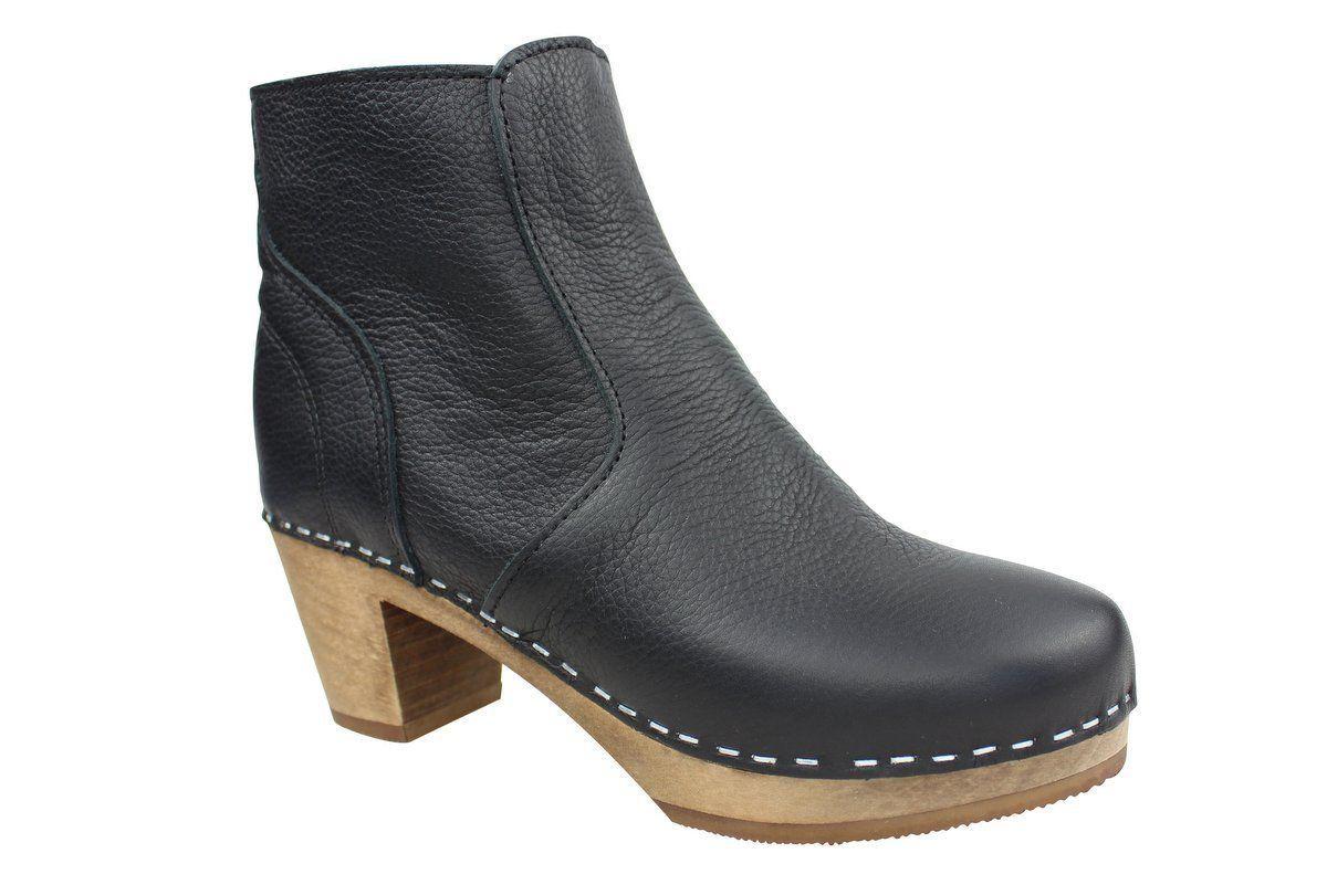 Maguba Auckland Black Clog Ankle Boots