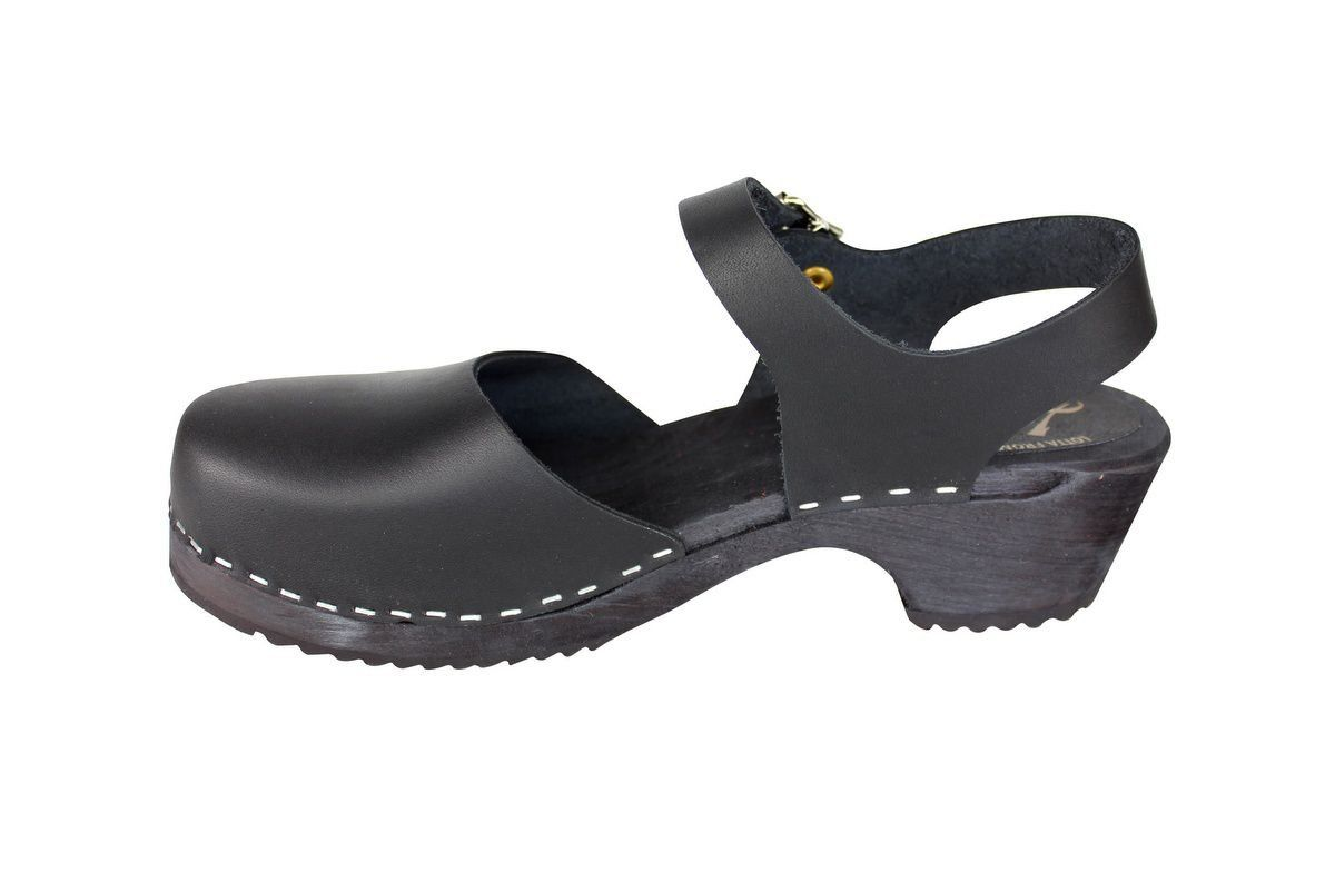 low wood black clogs with black sole rev side 2