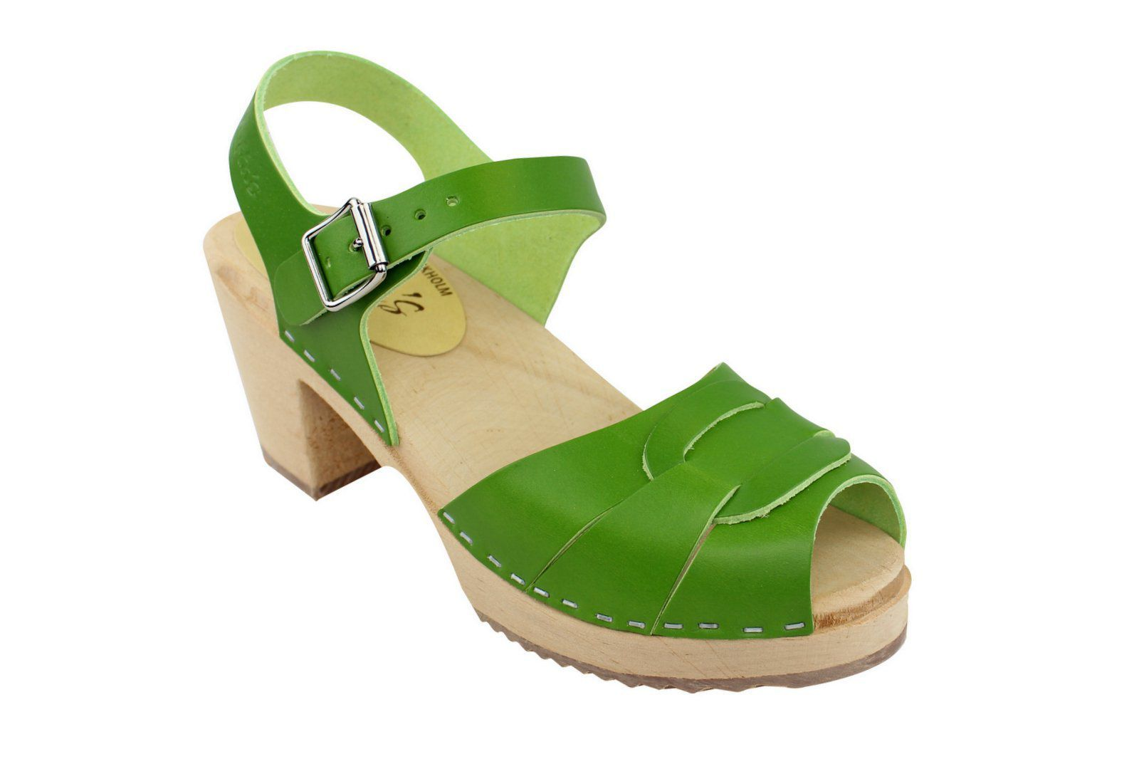 peep toe apple green