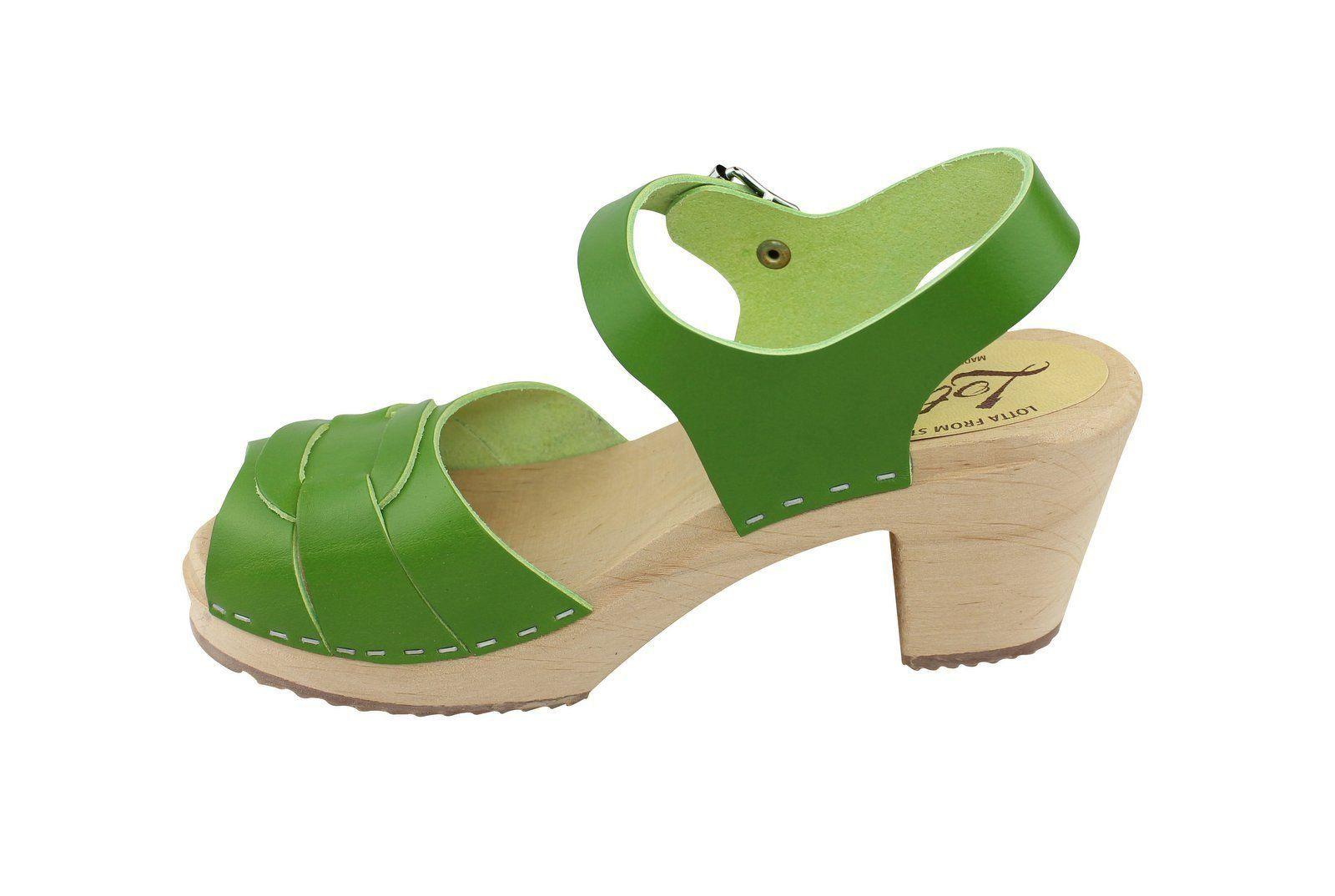 Peep Toe Clogs Apple Green Seconds