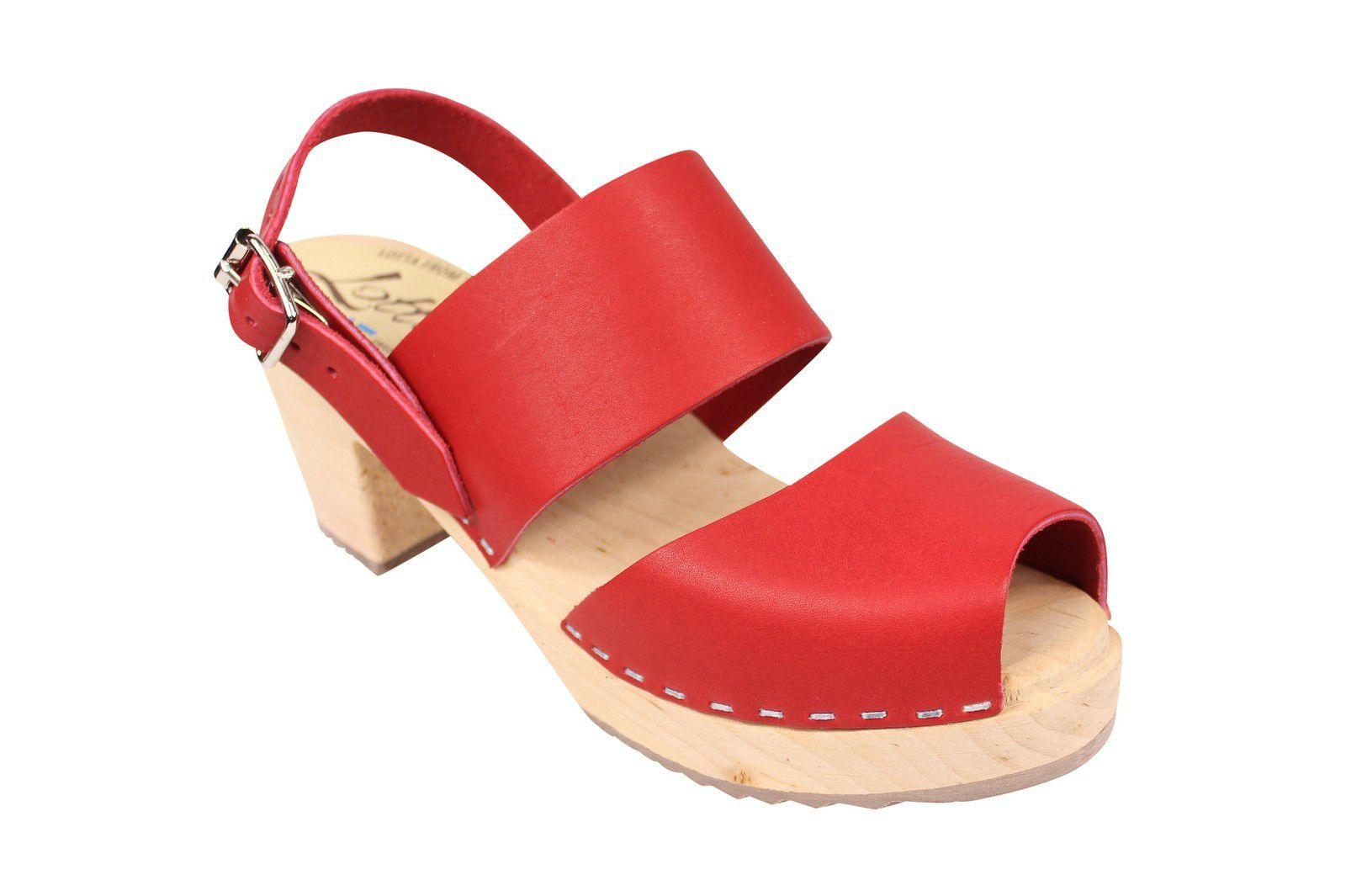 Lotta From Stockholm Sling Back Clogs Red