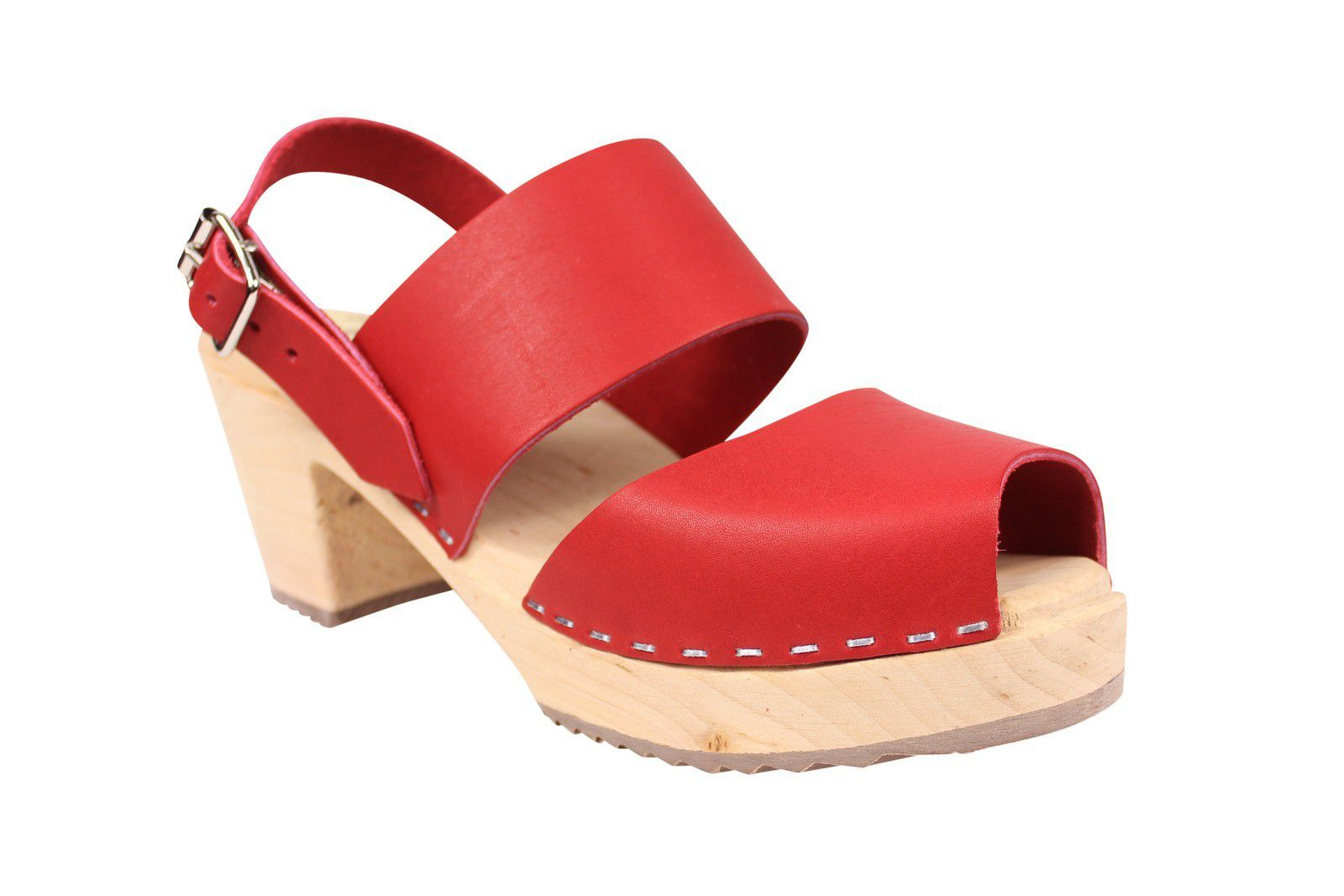 Lotta From Stockholm Sling Back Clogs Red Main