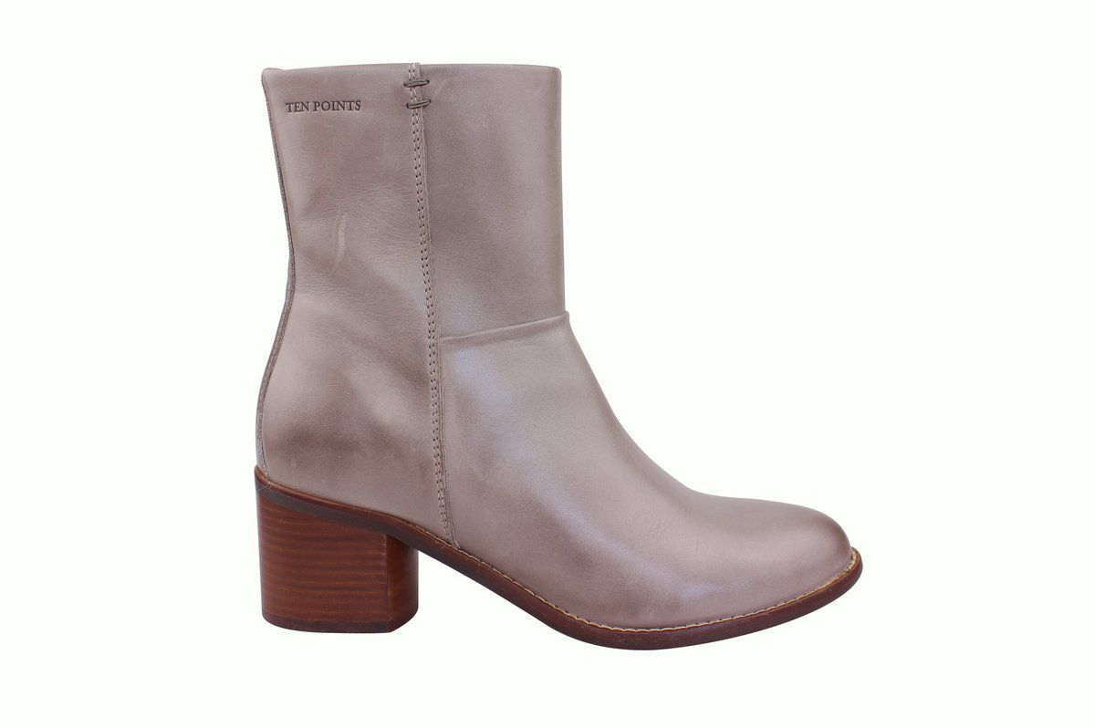 Ten Points Josette Ankle Heel Boot in Taupe