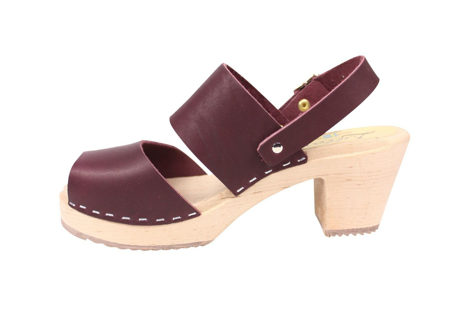 Lotta From Stockholm Sling Back Clogs Aubergine Rev Side