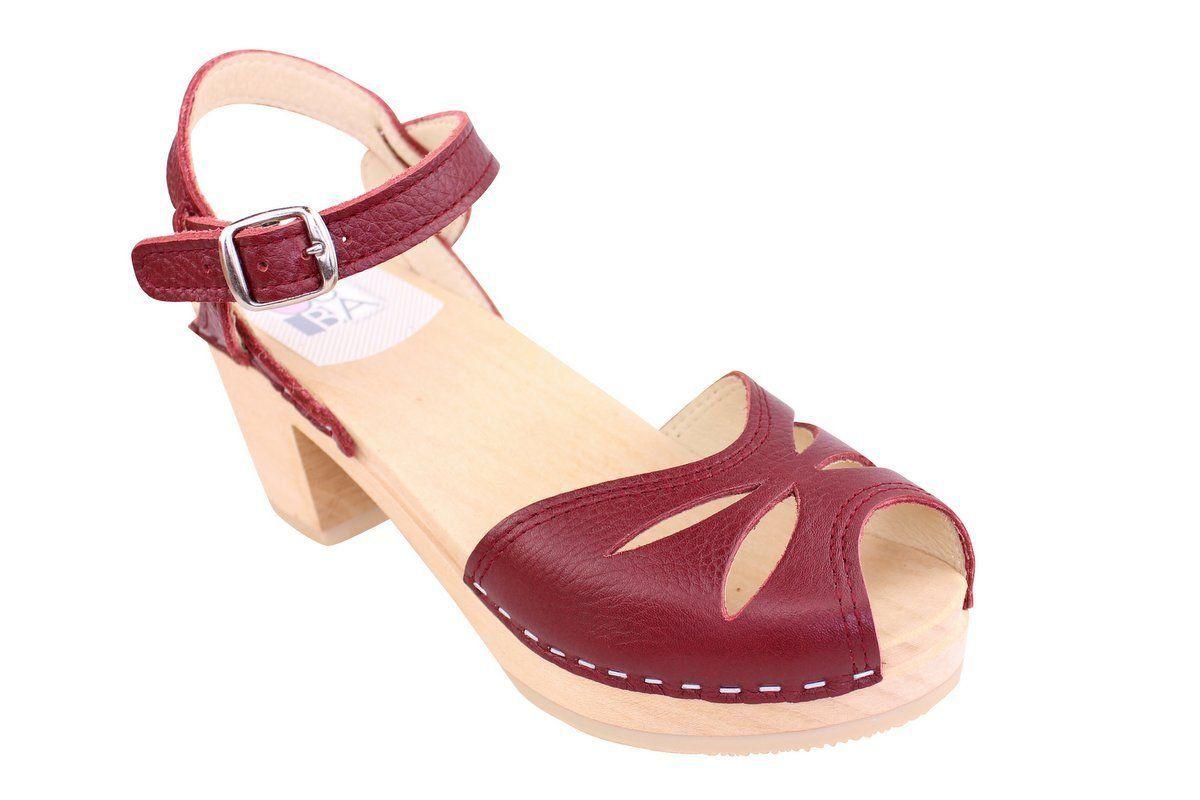 rio mid heel red