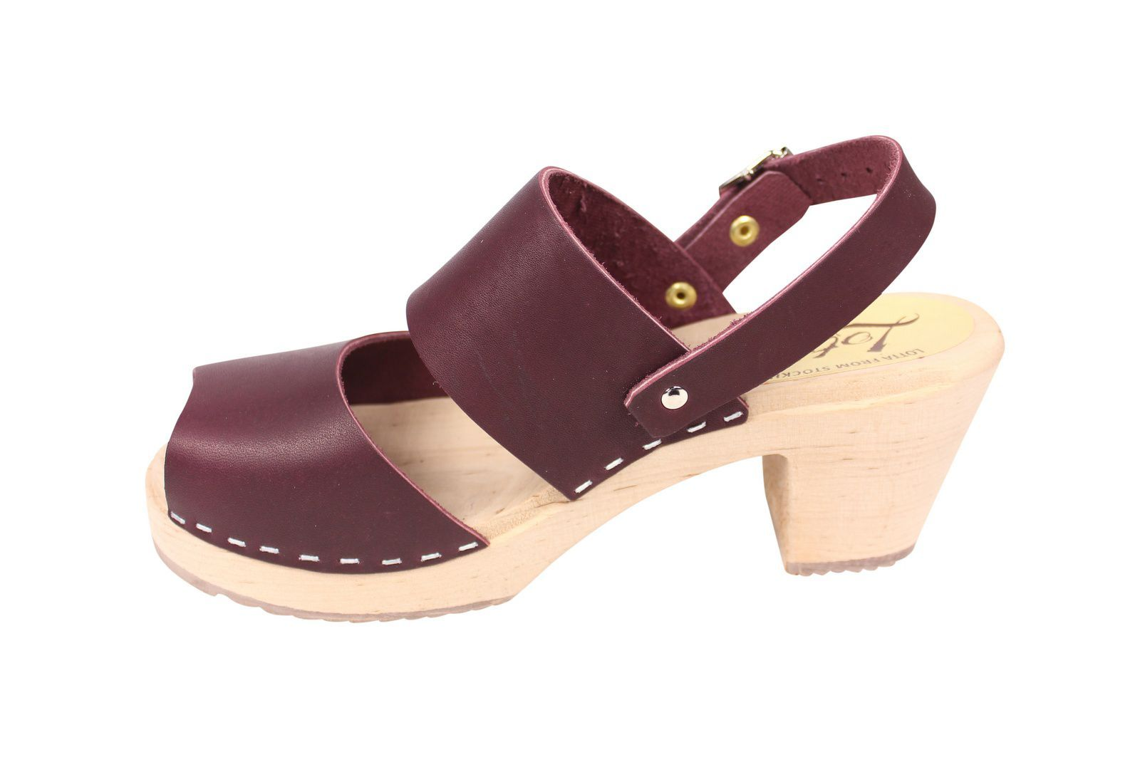 Lotta From Stockholm Sling Back Clogs Aubergine Rev Side 2