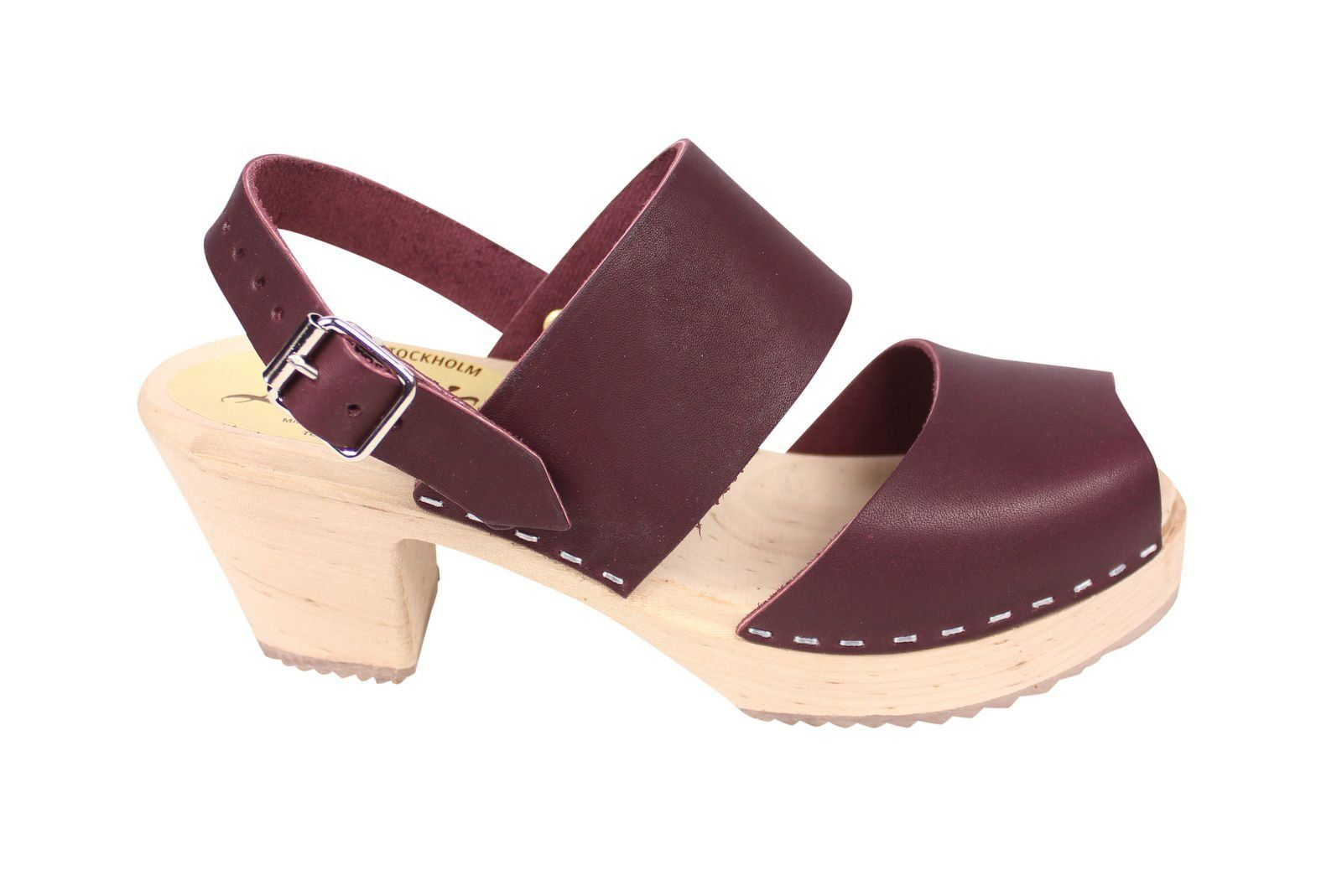 Lotta From Stockholm Sling Back Clogs Aubergine Side 2