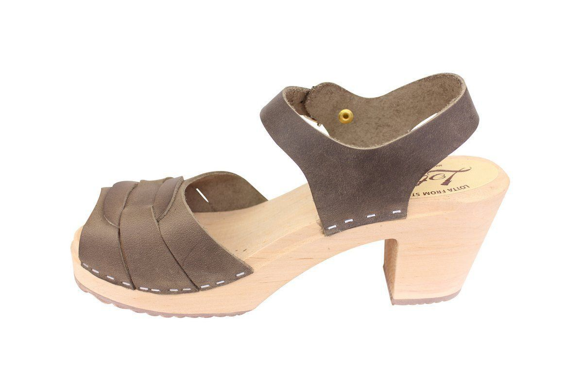 peep toe clogs dark taupe oiled nubuck rev side 2