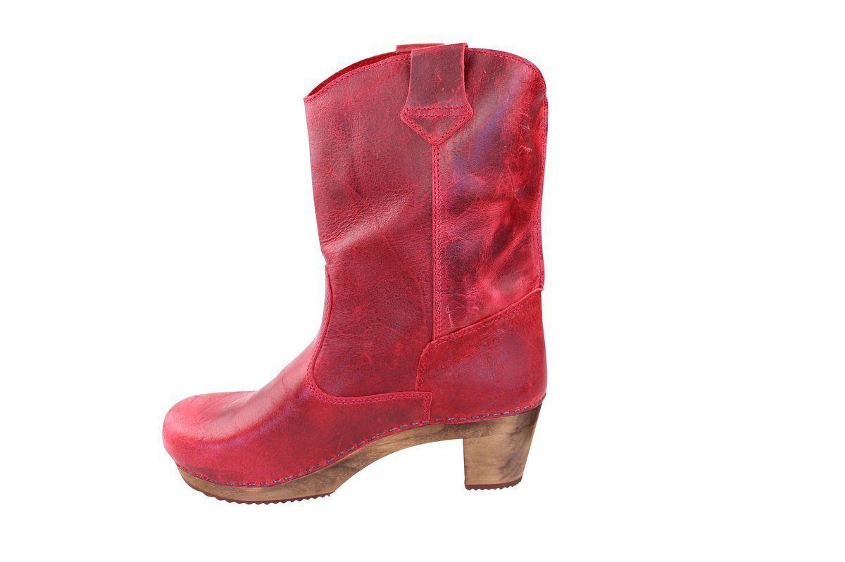 Sanita Laureen Dark Red Clog Boots