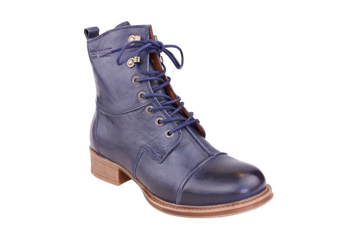Ten Points Pandora Lace-Up Boot in Dark Blue