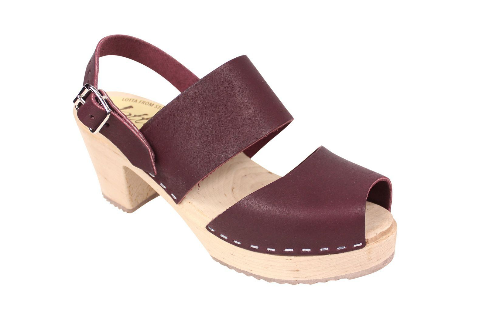 Lotta From Stockholm Sling Back Clogs Aubergine