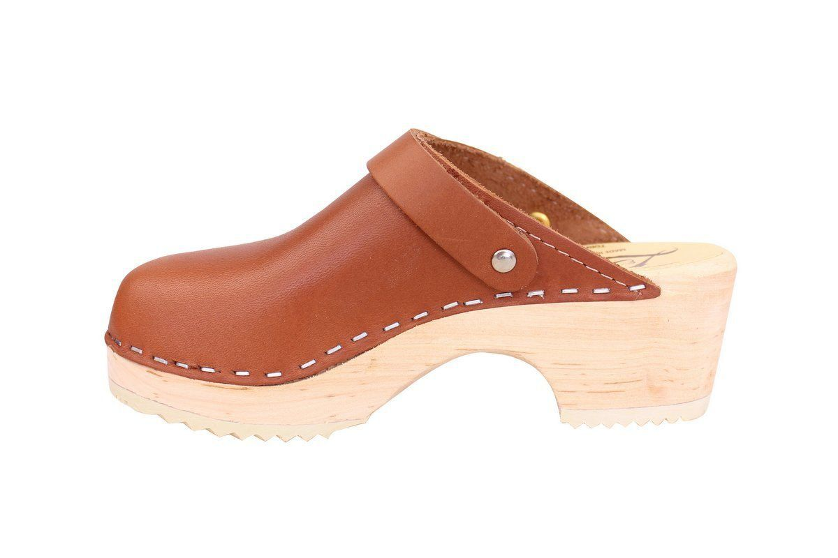 Little Lotta's Classic Tan Clog rev side