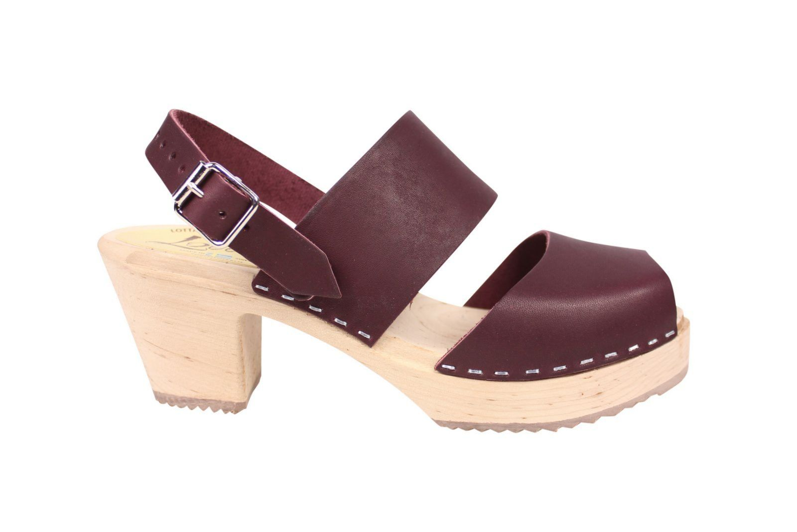 Lotta From Stockholm Sling Back Clogs Aubergine Side