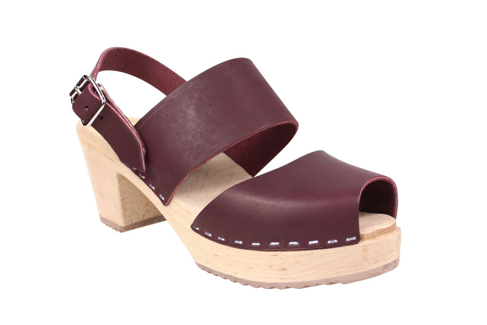 Lotta From Stockholm Sling Back Clogs Aubergine Main
