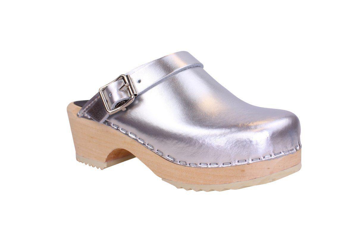 Little Lotta's Silver Clogs