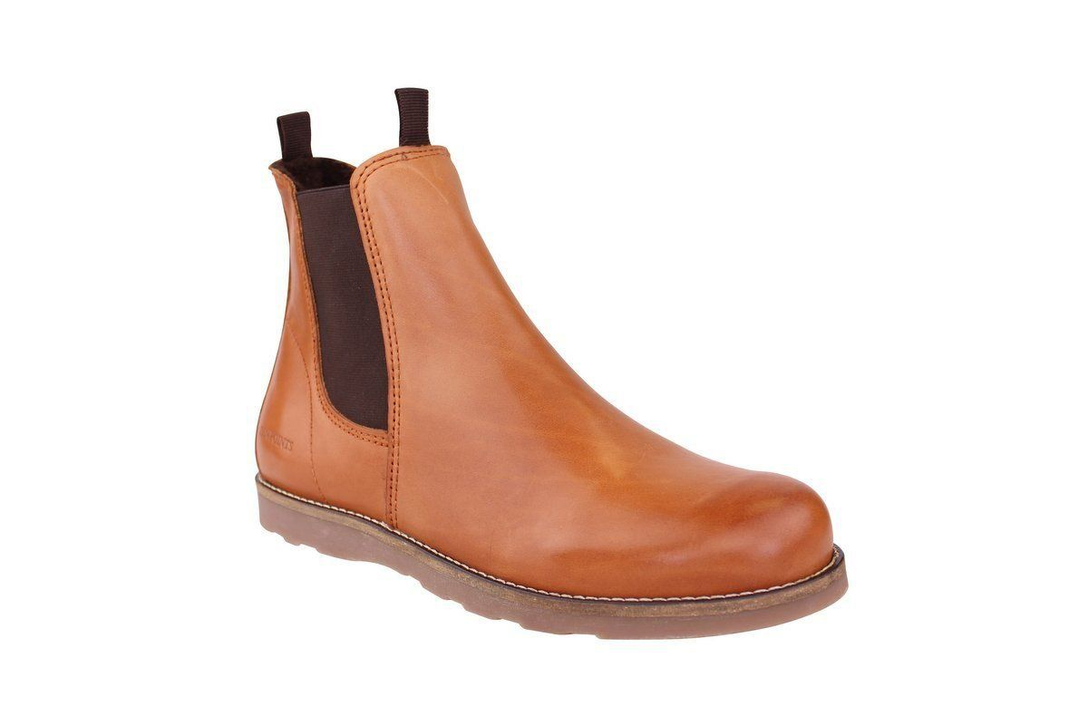 Ten Points Carol Cognac Chelsea Boot