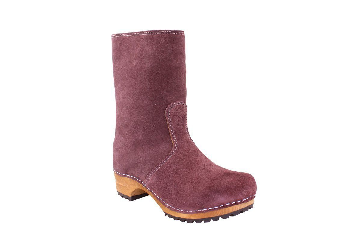 Sanita Charlotta Aubergine Clog Boot