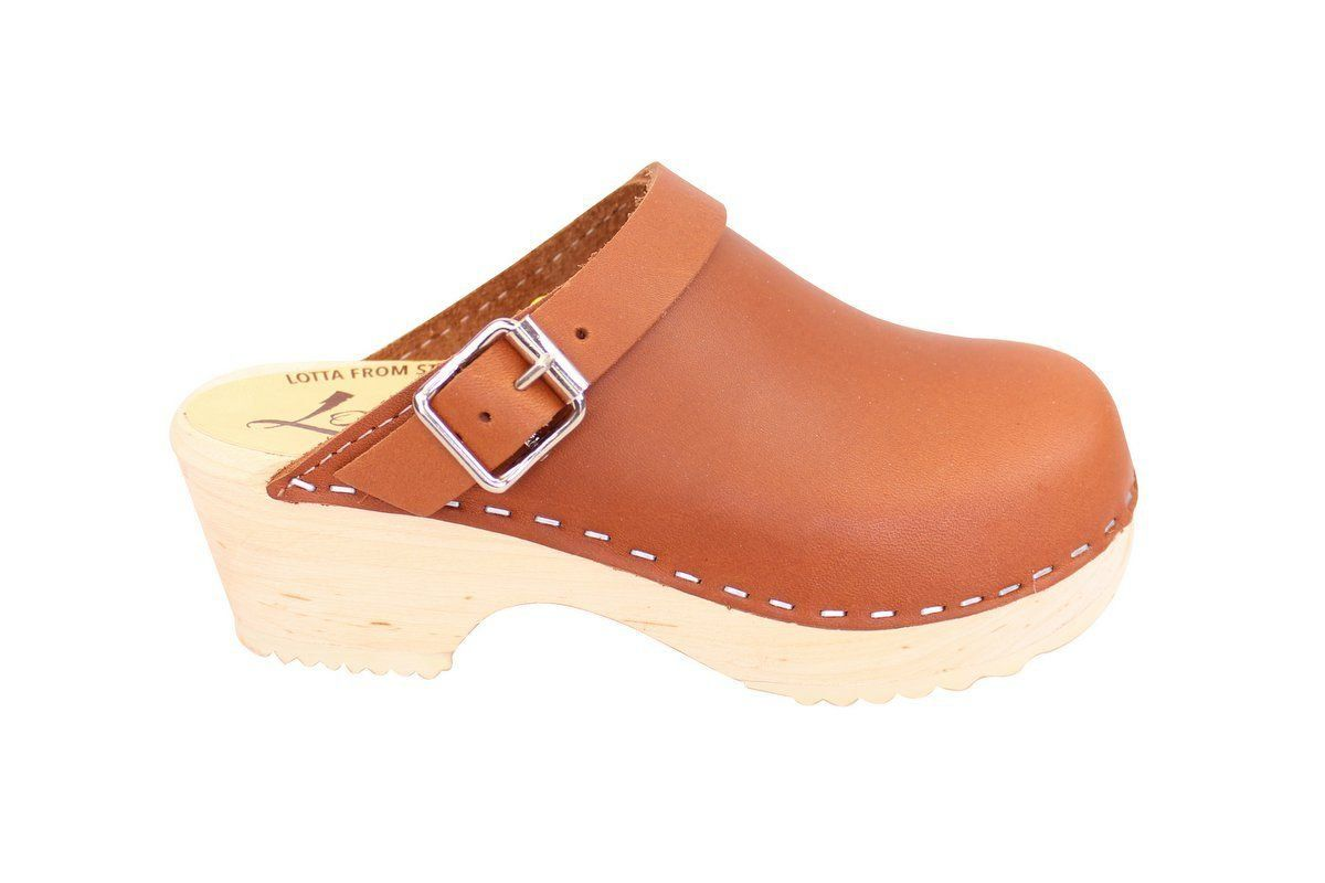 Little Lotta's Classic Tan Clog side 2