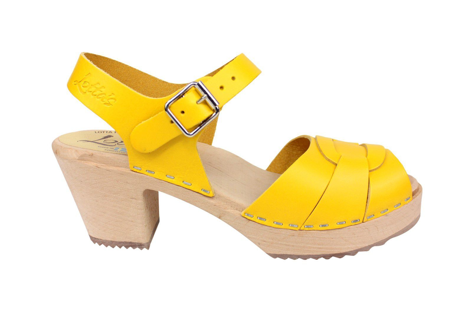 Lotta From Stockholm Peep Toe Summer Yellow Side